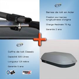 pack barres de toit et coffre fixation barres d 39 origine sw. Black Bedroom Furniture Sets. Home Design Ideas