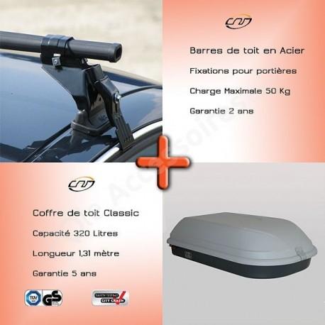 96-/>00 Barres de toit RENAULT Safrane 4 portes Fixation standard portière
