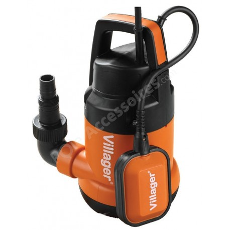 Pompe électrique vide cave eaux claires 250 watts débit 6000 litres heure