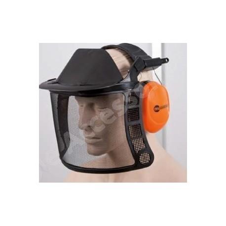 Visière de protection avec casque anti-bruit