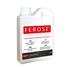 Ferose - Convertisseur de rouille - Traitement contre la rouille - 500 ml