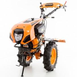 Motoculteur diesel 10 Cv 8 fraises vitesses 2AV - 1AR roues agraires 400x8 - charrue réversible Ruris 1001 KSD
