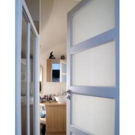 Film depoli translucide blanc pour vitrage - rouleau de 75cm x 200cm