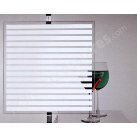 Film decoratif à motif bandes horizontales pour vitrage - rouleau de 60cm x 150cm