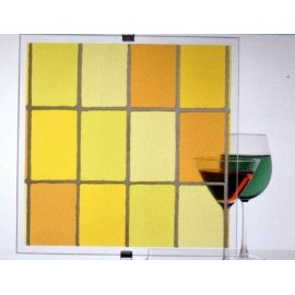 Film décoratif effet vitrail Jaune - 60 cm x 200 cm