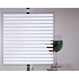 Film decoratif à motif bandes horizontales pour vitrage - rouleau de 90cm x 150cm