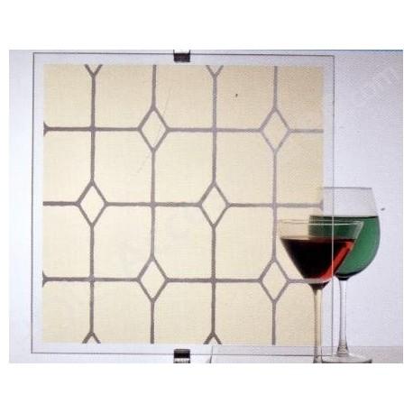 Film décoratif effet vitrail Champagne clair- 60 cm x 400 cm