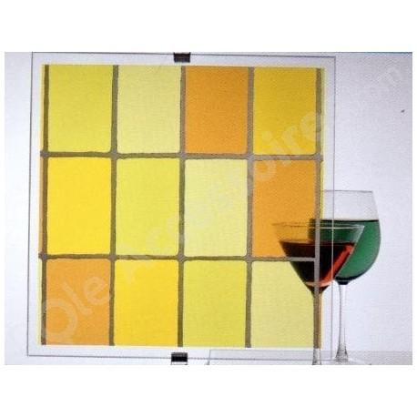 Film décoratif effet vitrail Jaune - 60 cm x 400 cm