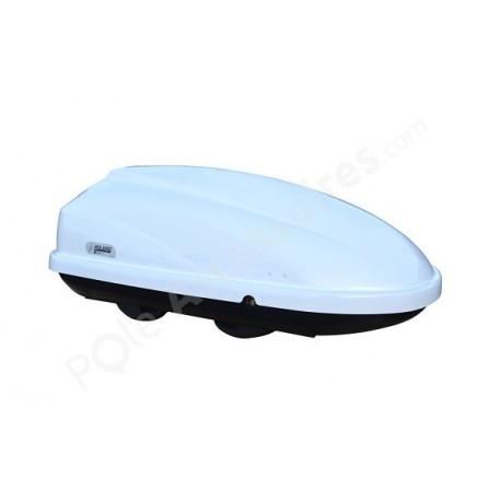 coffre de toit 370 litres travel blanc pole. Black Bedroom Furniture Sets. Home Design Ideas