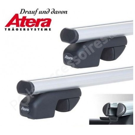 Barres de toit aluminium fixation rail d'origine ATERA 45254