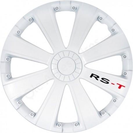 Enjoliveur 15 pouces blanc RST - pack de 4 enjoliveurs