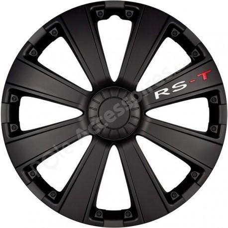 Enjoliveur 16 pouces noir RST - pack de 4 enjoliveurs
